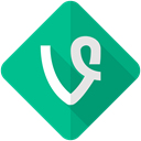 network, media, video, Vine, Social, movie, Camera DarkCyan icon