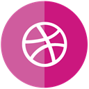 Dribble PaleVioletRed icon