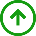 positive, Up, Direction, Trend, Arrow ForestGreen icon