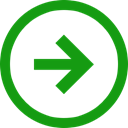 Direction, positive, right, stagnant, Trend ForestGreen icon