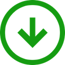 Trend, Down, Arrow, positive, Direction ForestGreen icon