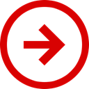 stagnant, Negative, Direction, Trend, Arrow Red icon