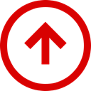 Negative, Trend, Direction, Arrow, Up Red icon