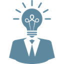 Idea, brainstorming, imagination, bulb, solution, Business, light CadetBlue icon
