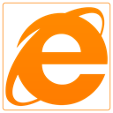 internet explorer, internet, Explorer DarkOrange icon