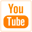 tube, youtube, you tube DarkOrange icon