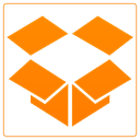 drop box, Cloud DarkOrange icon