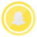 smartphone, internet, technology, Snapchat, Mobile Khaki icon