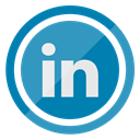 Communication, Social, Linkedin, Logo, media, network SteelBlue icon