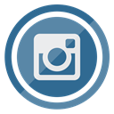 Instagram, media, Multimedia, Social, Circle SteelBlue icon