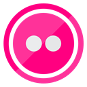 flickr, photos, creative, media, Multimedia DeepPink icon