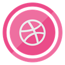 Social, Logo, dribbble, media PaleVioletRed icon