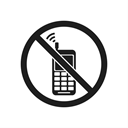 impossible, prohibition sign, prevention, phone, warning, prohibition, prohibiting sign Black icon