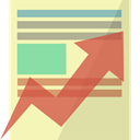 report, Analytics, statistics, graph, optimization PaleGoldenrod icon