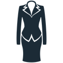 woman, Clothes, Business, Suit, fabric, clothing DarkSlateGray icon