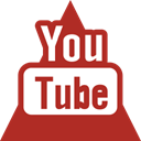 triangle, Social, youtube, media Firebrick icon