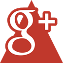 google, triangle, media, Social Firebrick icon