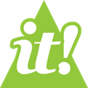 Social, scoopit, triangle, media YellowGreen icon