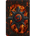 card, cardback10, Back, hearthstone Black icon