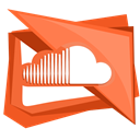 Soundcloud, Cloud, sound, Social, music Chocolate icon