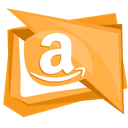 Amazon, storage, Services, Copy, networking SandyBrown icon