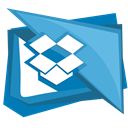 Cloud, Social, dropbox, Folder, Box CornflowerBlue icon