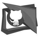 repository, Social, Git, Github, Connection, Communication, Logo DimGray icon