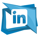 network, In, linked, Linkedin, Social CornflowerBlue icon