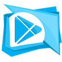 play, googleplay, store, google DeepSkyBlue icon