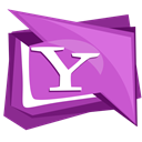 Social, yahoo, Logo, Buzz, Messenger MediumOrchid icon