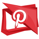 pin, Social, interest, pinterest, media Crimson icon