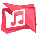 music, Note, store, sound, itunes Black icon