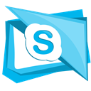 Chat, Skype, Call, talk, Social LightSkyBlue icon