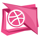 Dribble, dribbble, Social, Ball, media PaleVioletRed icon