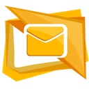 envelope, Letter, Email, Message, mail Orange icon