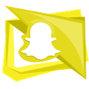 technology, snap, Snapchat, Social, Mobile Gold icon