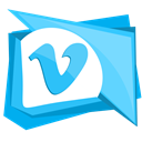 Social, Vimeo, network, video, media DeepSkyBlue icon