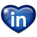 Linkedin, Social, media MidnightBlue icon