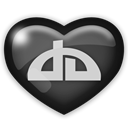 media, Deviantart, Social Black icon