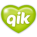 Social, media, Qik YellowGreen icon