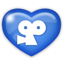 media, Viddler, Social RoyalBlue icon