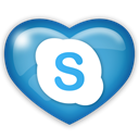 Skype, Social, media Black icon