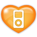 ipod, mp3, media, music, Social, player SandyBrown icon