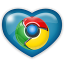 chrome, Social, media Black icon