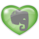 Social, Evernote, media Black icon