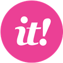 pink, media, scoopit, Social, round DeepPink icon