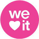 round, media, pink, Social, Weheartit DeepPink icon