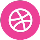 dribbble, Social, round, pink, media DeepPink icon
