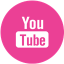 media, pink, round, Social, youtube DeepPink icon