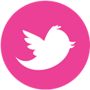 media, twitter, Social, pink, round DeepPink icon